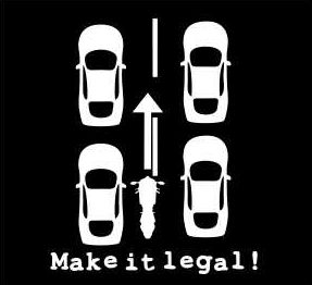 Lane Splitting - Make it Legal! (outside UK only)
