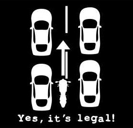 Lane Splitting - Yes it's Legal!